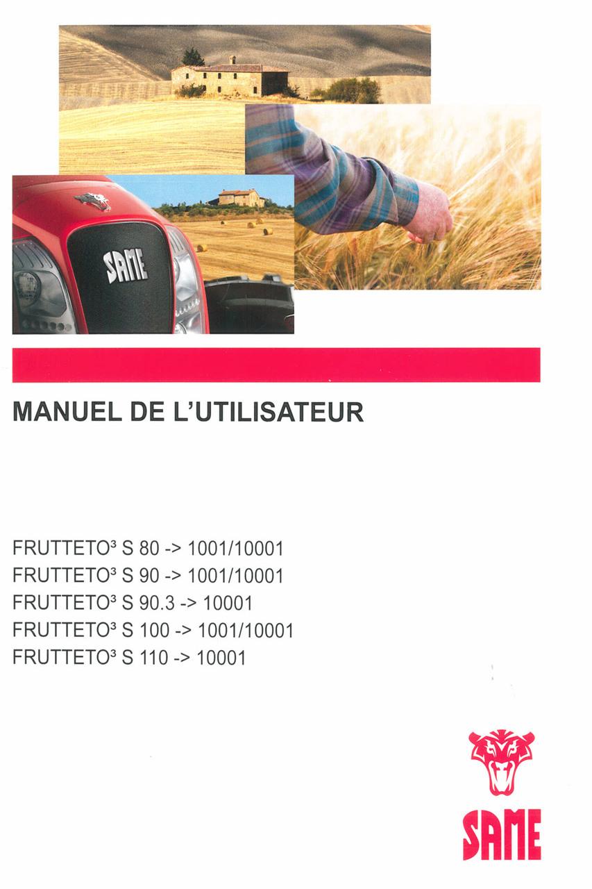 FRUTTETO³ S 80 ->1001/10001 - FRUTTETO³ S 90 ->1001/10001 - FRUTTETO³ 90.3 ->10001 - FRUTTETO³ S 100 ->1001/10001 - FRUTTETO³ S 110 ->10001 - Manuel de l'utilisateur