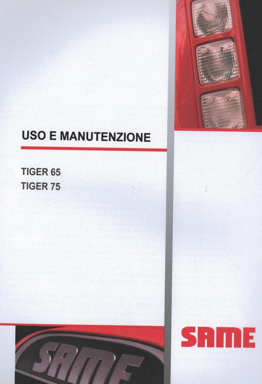 TIGER 65 - TIGER 75 - Uso e manutenzione