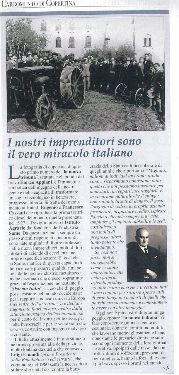 I nostri imprenditori sono il vero miracolo italiano