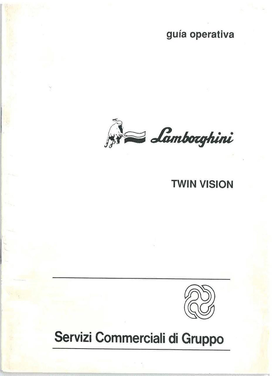 TWIN VISION - Uso y Manutencion