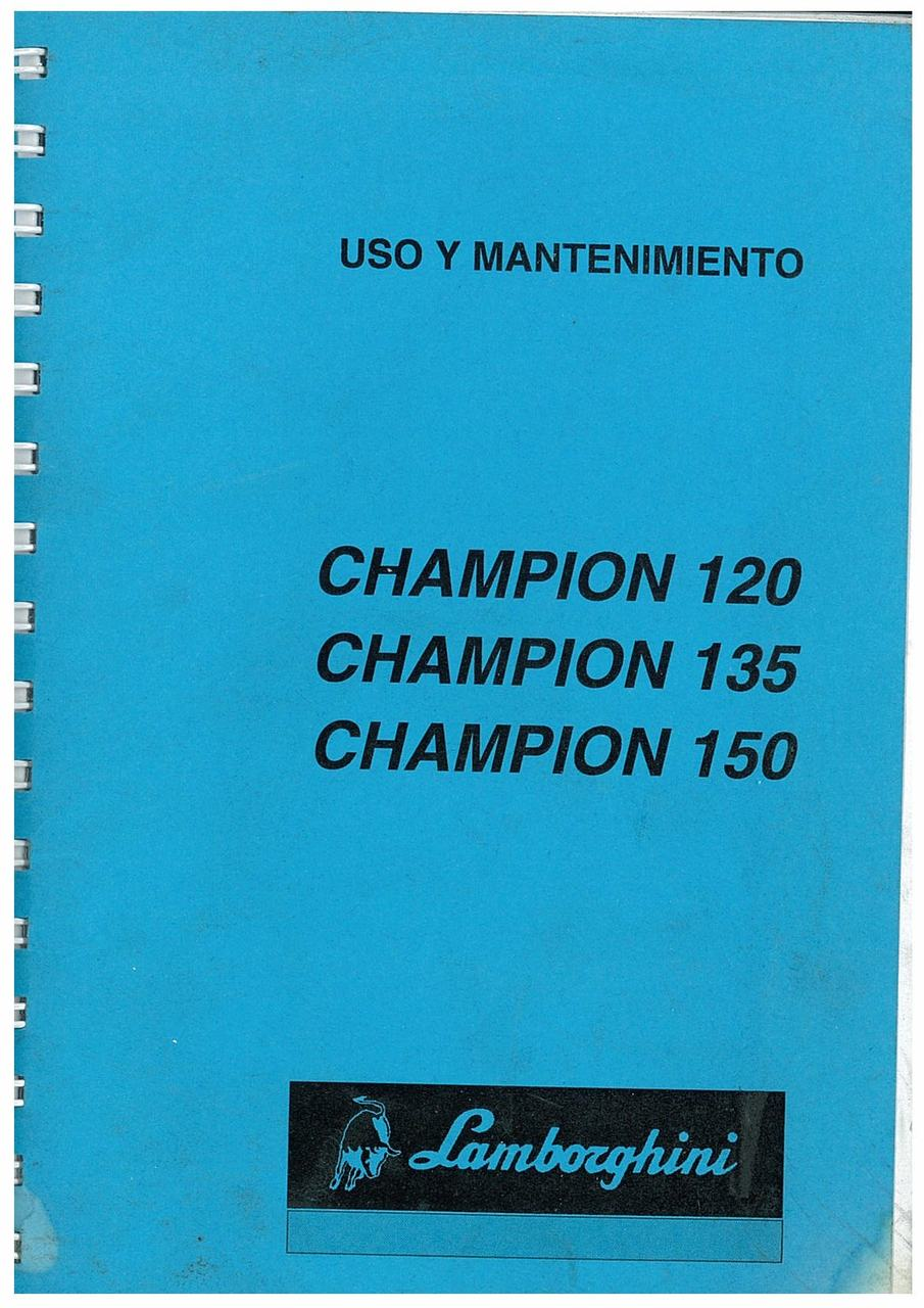 CHAMPION 120-135-150 - Uso y Manteniminento
