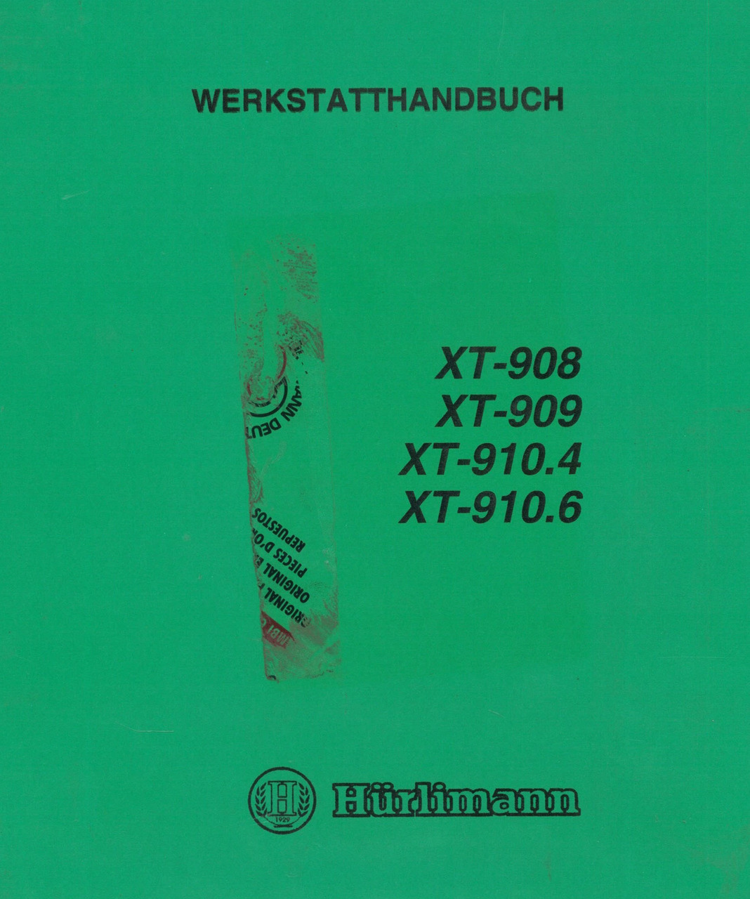 XT 908 - 909 - 910.4 - 910.6 - Werkstatthandbuch