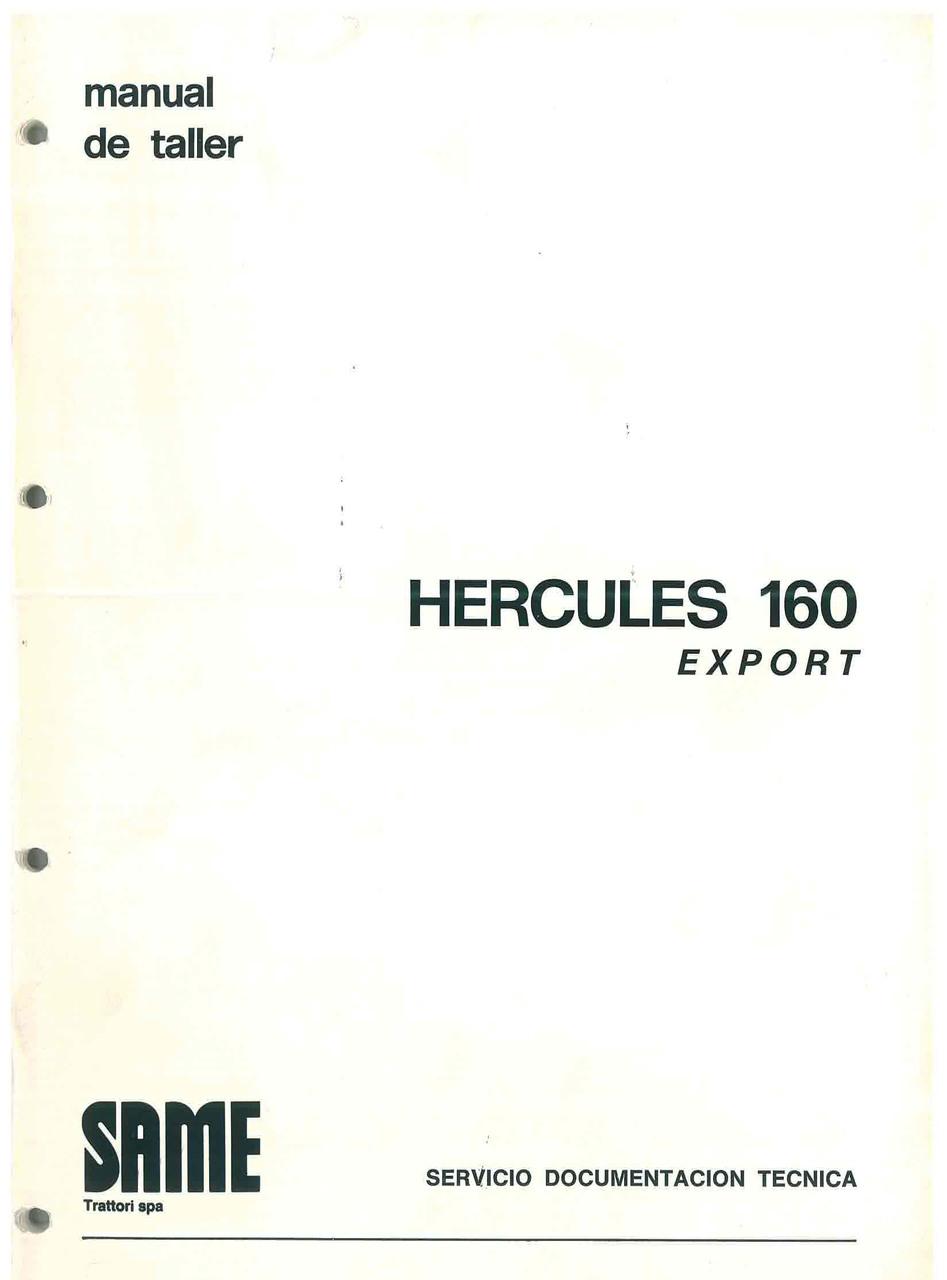 HERCULES 160 EXPORT - Manual de taller