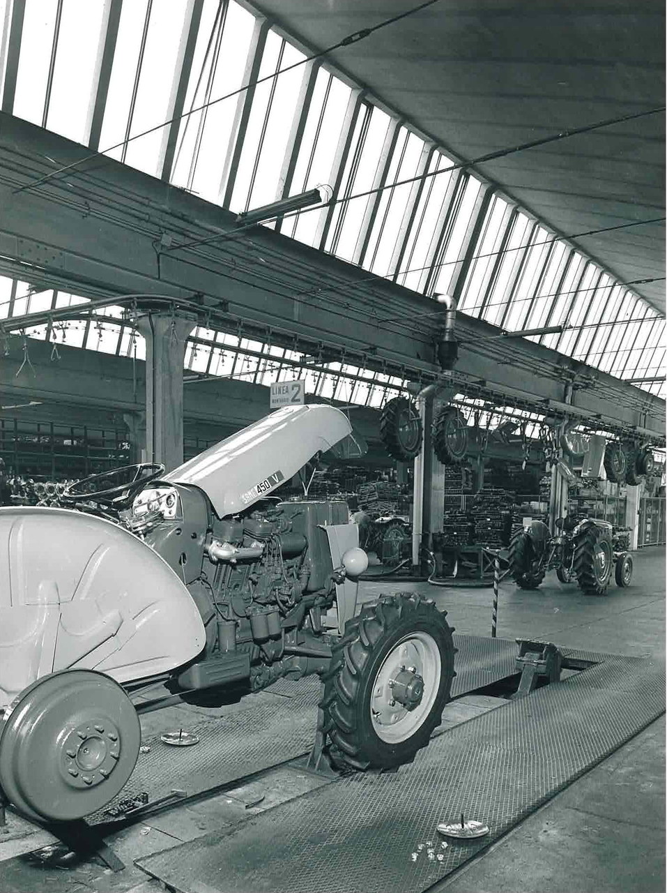 Stabilimento Same - Linea montaggio trattori SAME 450 V