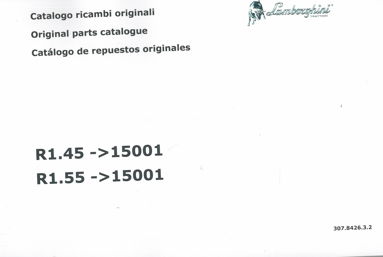 R1.45 ->15001 - R1.55 ->15001 - Catalogo ricambi originali / Original parts catalogue / Catalogo de repuestos originales