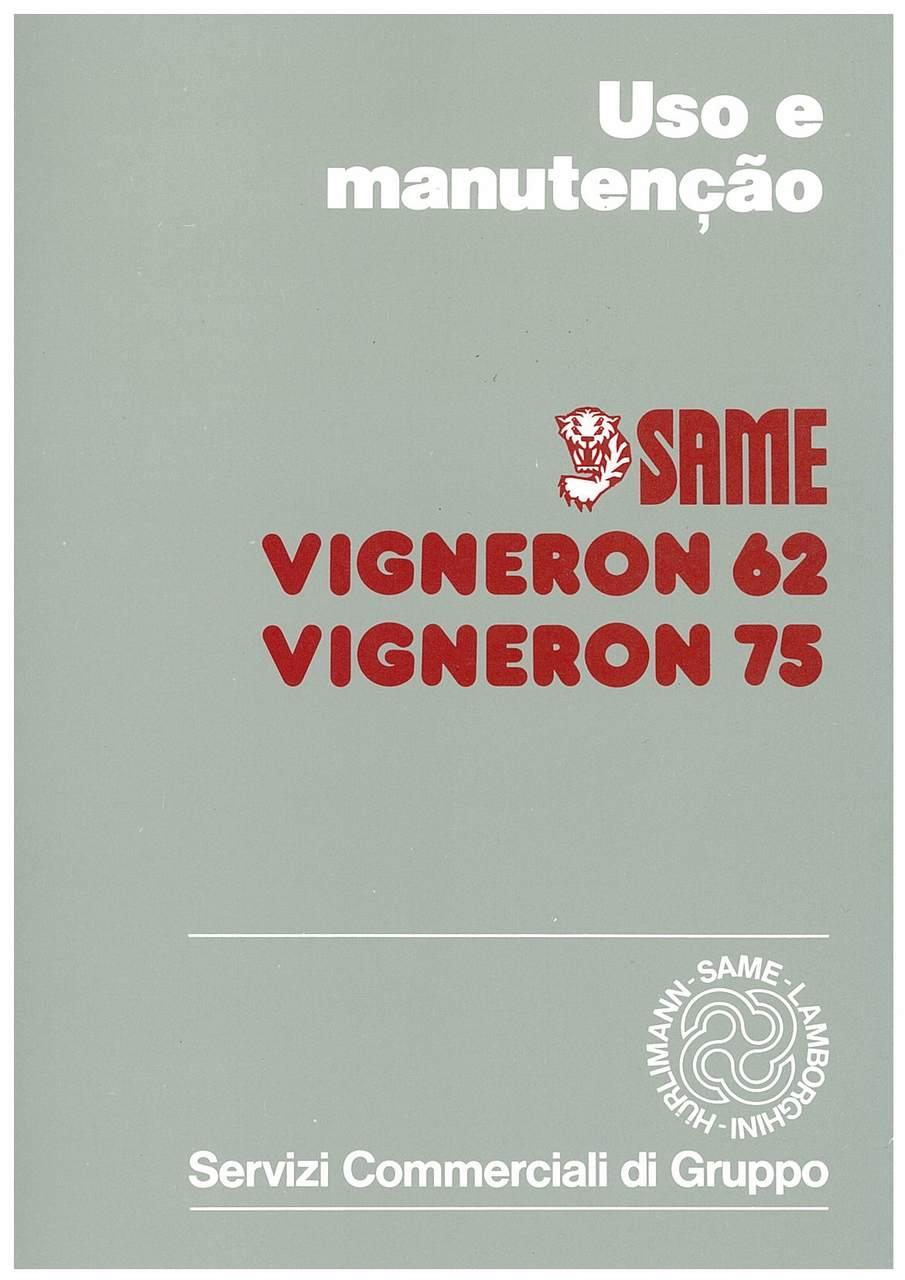 VIGNERON 62 - 75 - Uso e Manutençao