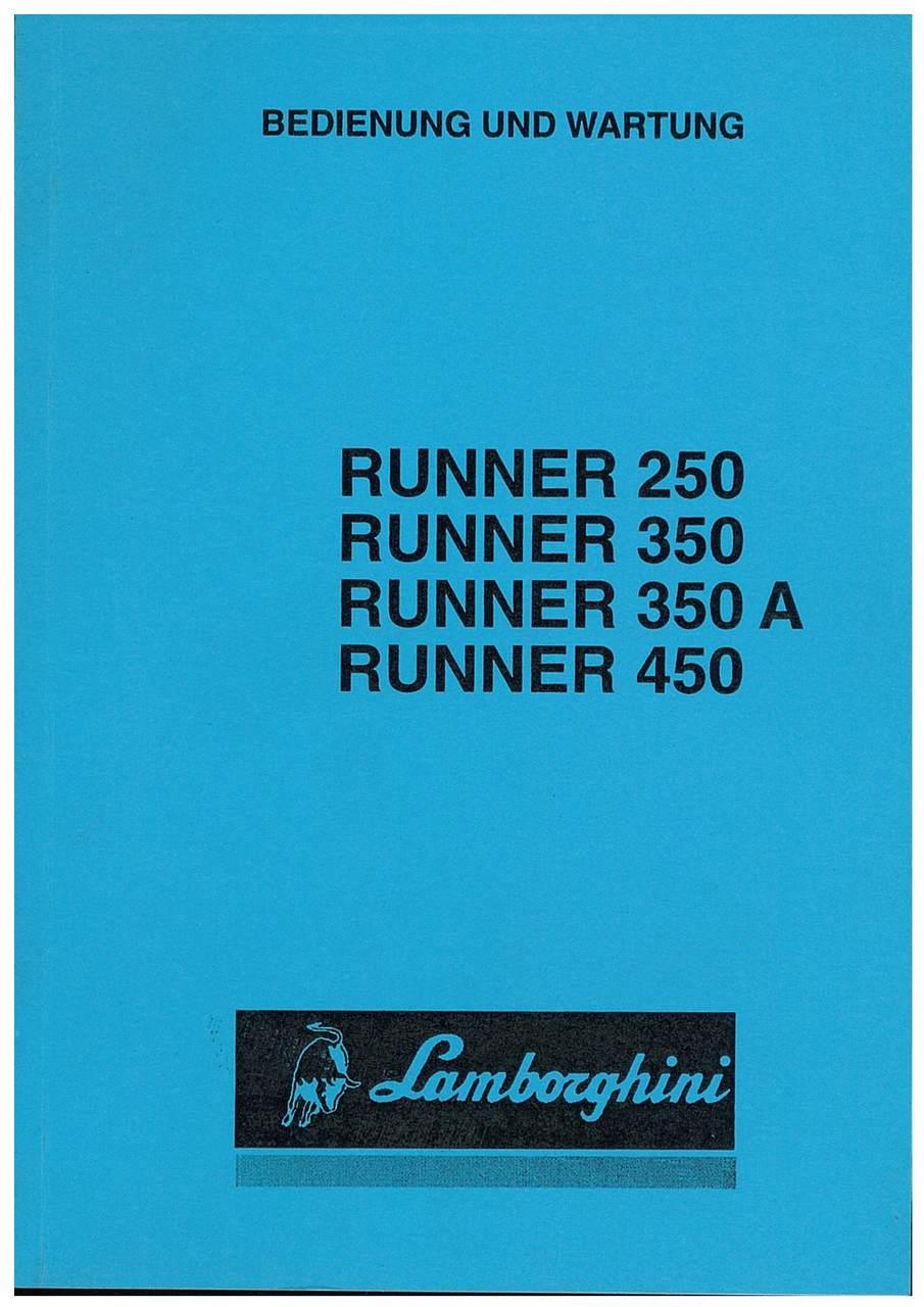 RUNNER 250 - 350 - 350A - 450 - Bedienung und Wartung