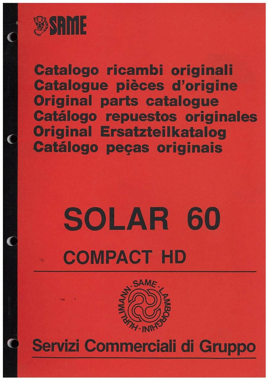 SOLAR 60 Compact HD - Catalogo Parti di Ricambio / Catalogue de pièces de rechange / Spare parts catalogue / Ersatzteilliste / Lista de repuestos / Catálogo peças originais