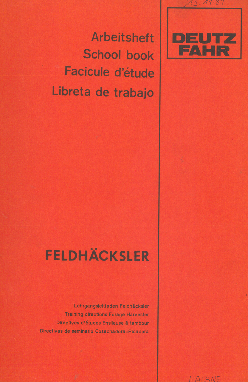 DEUTZ-FAHR Feldhäcksler - Arbeitsheft
