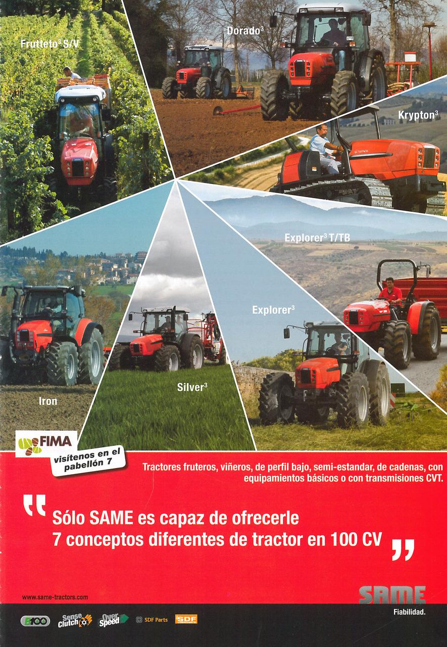 Solo SAME es capaz de ofrecerle 7 conceptos diferentes de tractor en 100 CV