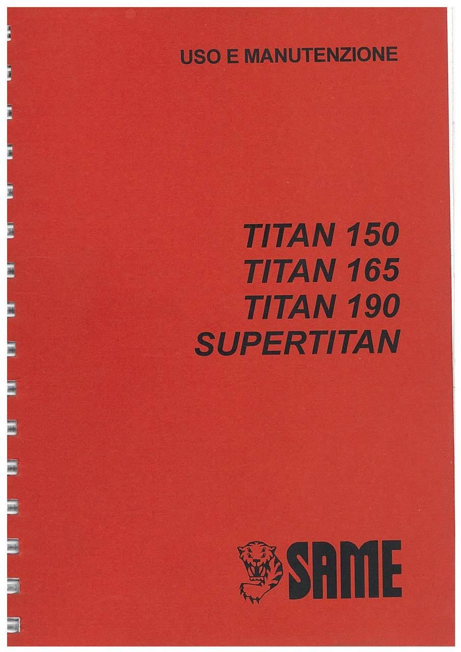 TITAN 150 -160 - 190 - SUPERTITAN - Libretto Uso & Manutenzione