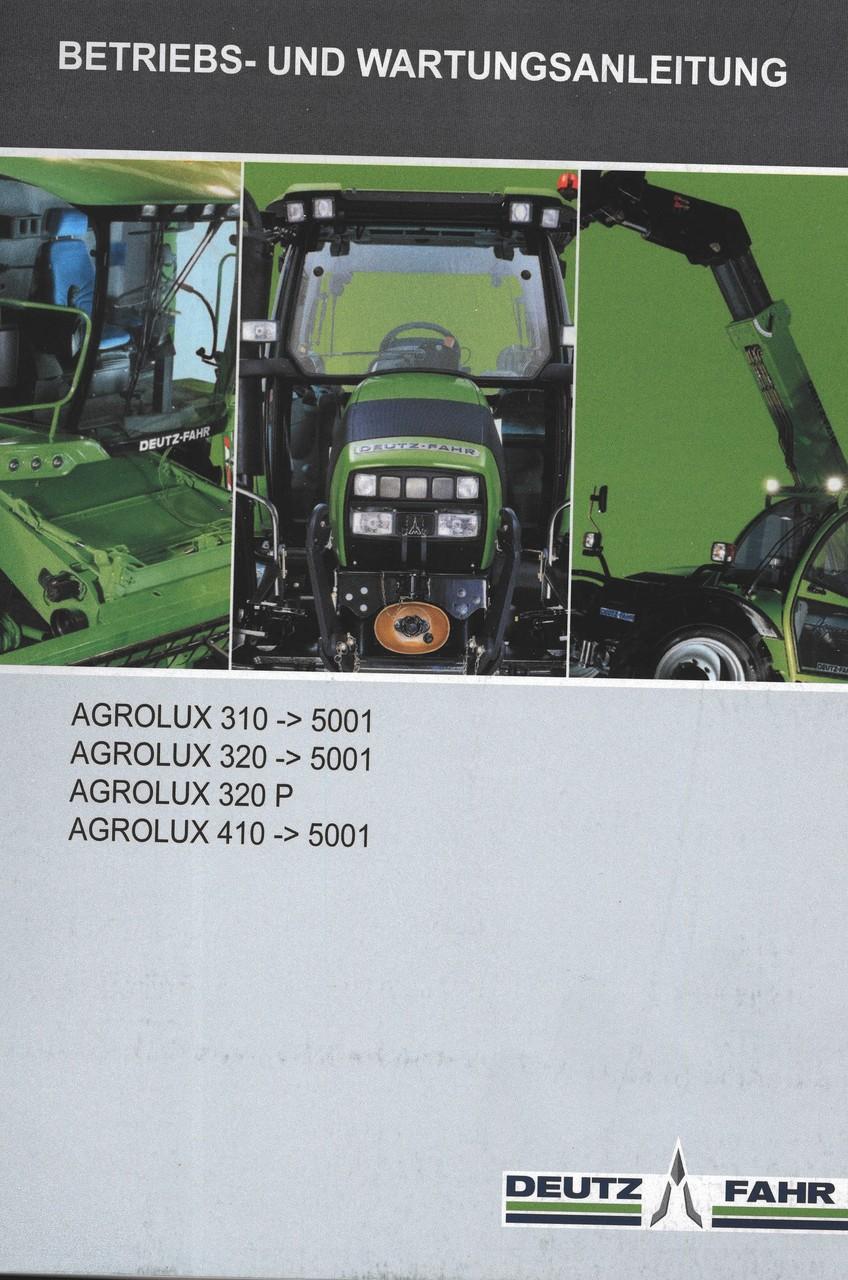 AGROLUX 310 ->5001 - AGROLUX 320 ->5001 - AGROLUX 320 P - AGROLUX 410 ->5001 - Betriebs - und Wartungsanleitung