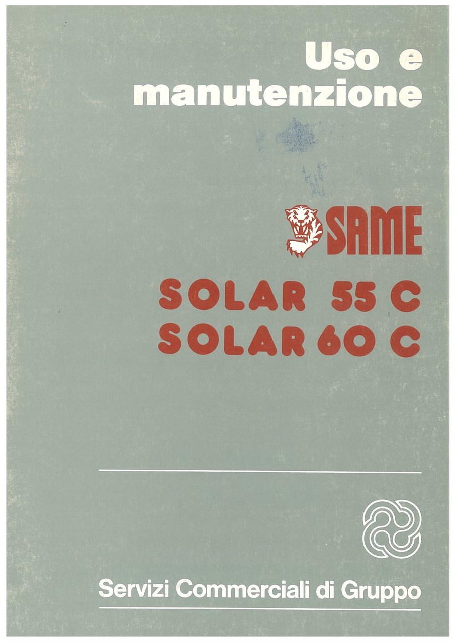 SOLAR 55 C - 60 C - Libretto uso & manutenzione