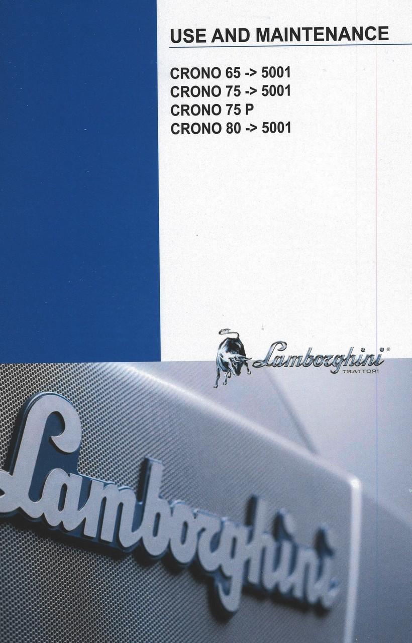 CRONO 65 ->5001 - CRONO 75 ->5001 - CRONO 75 P - CRONO 80 ->5001 - Use and maintenance