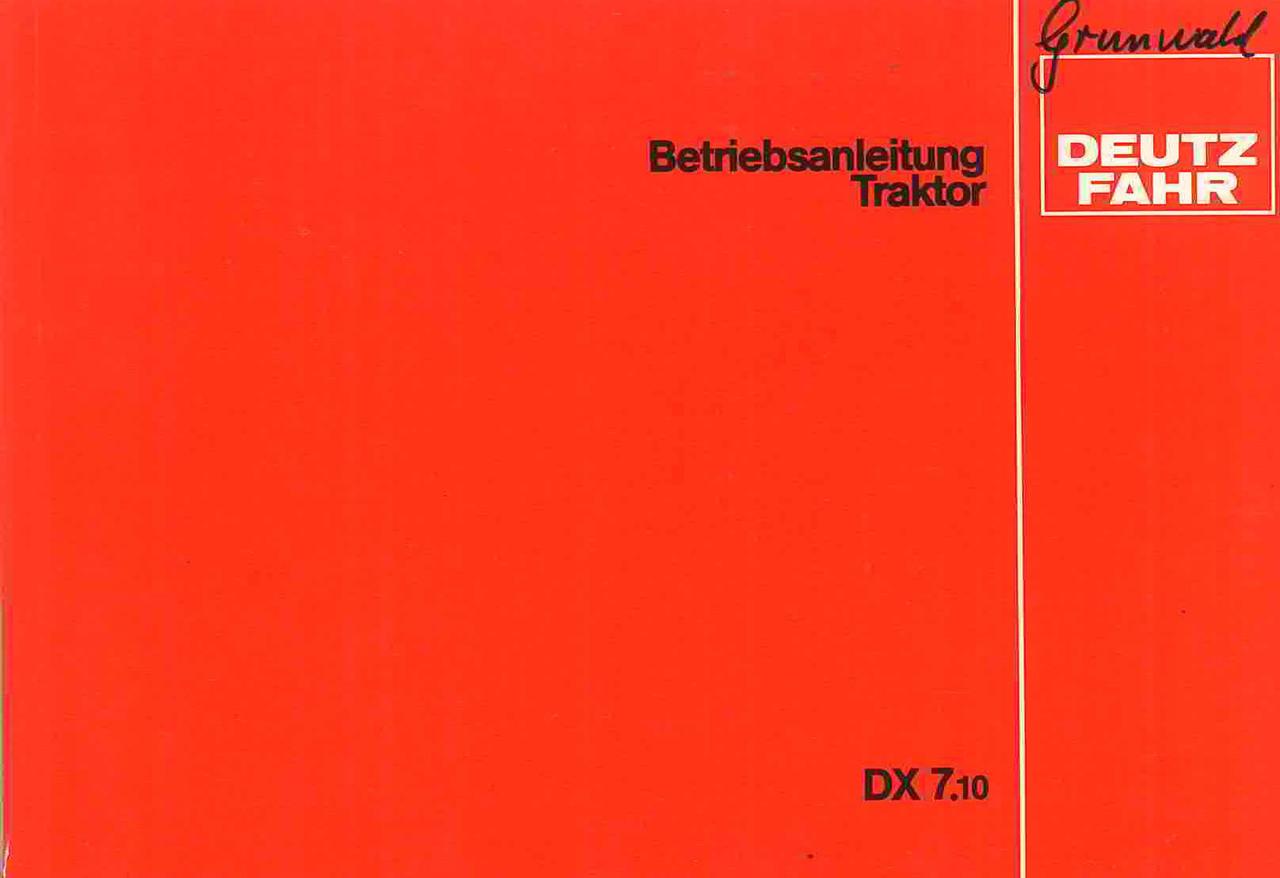 DX 7.10 - Betriebsanleitung