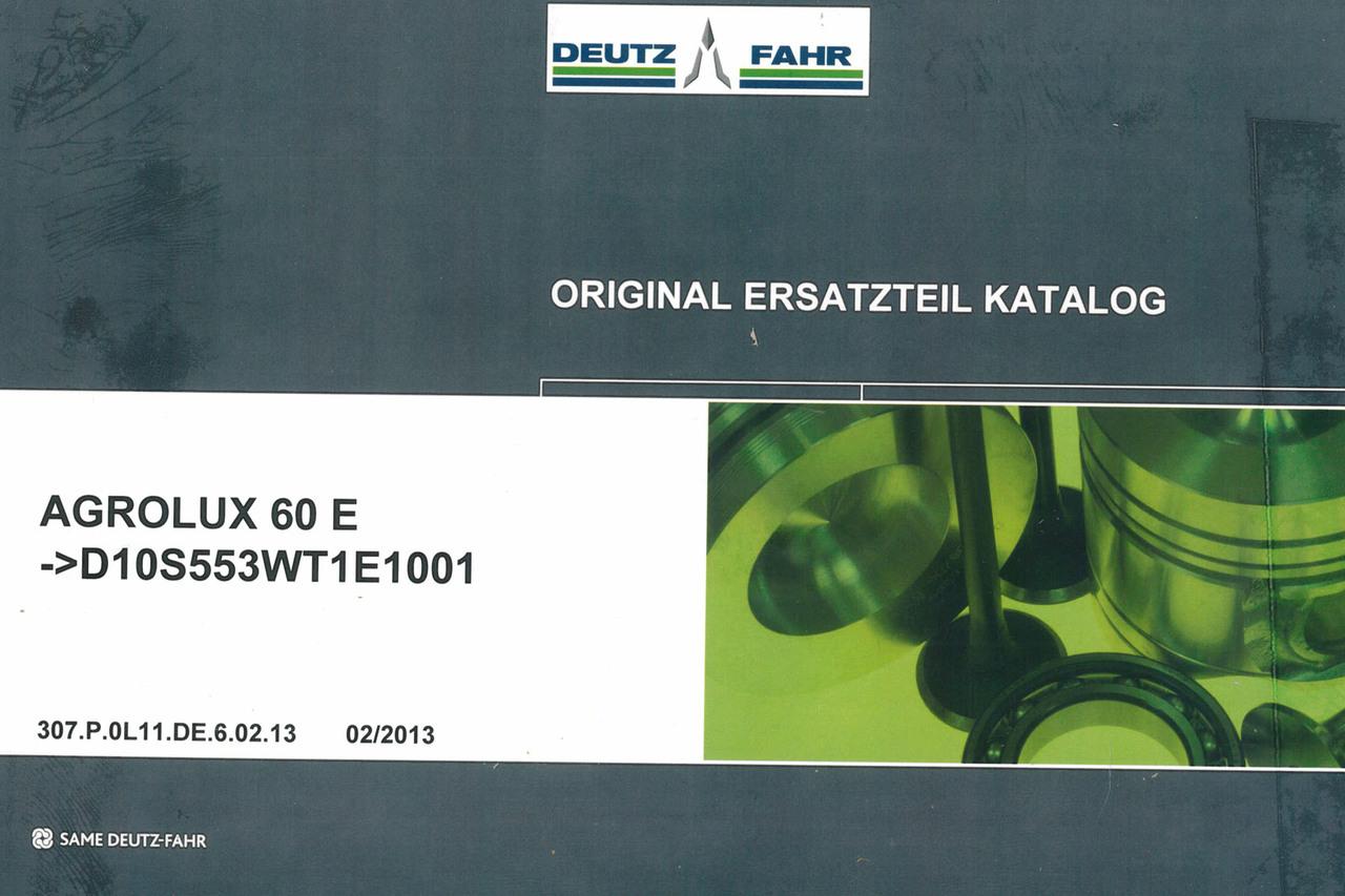 AGROLUX 60 E ->D10S553WT1E1001 - Original Ersatzteil Katalog
