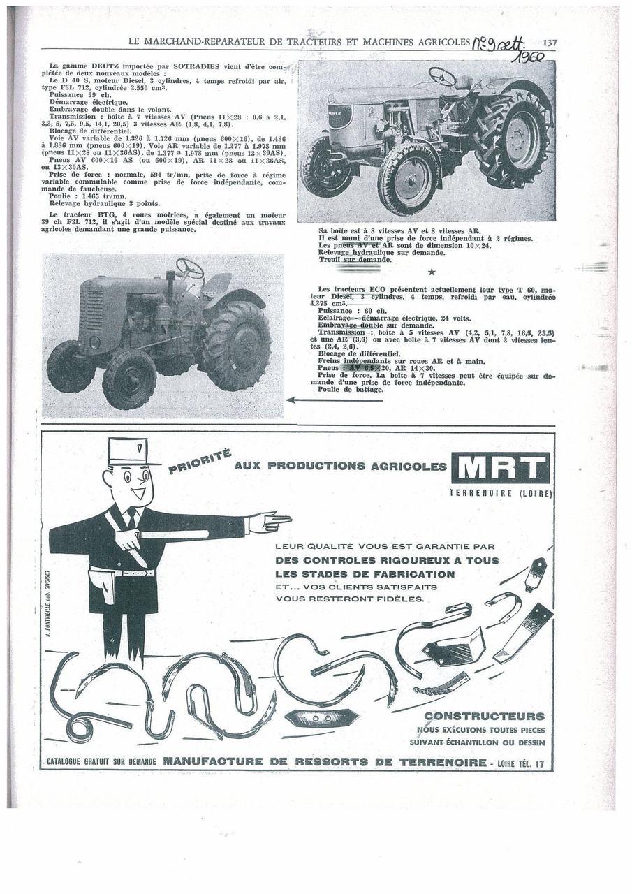 Le marchand-reparateur de tracteurs et machines agricoles