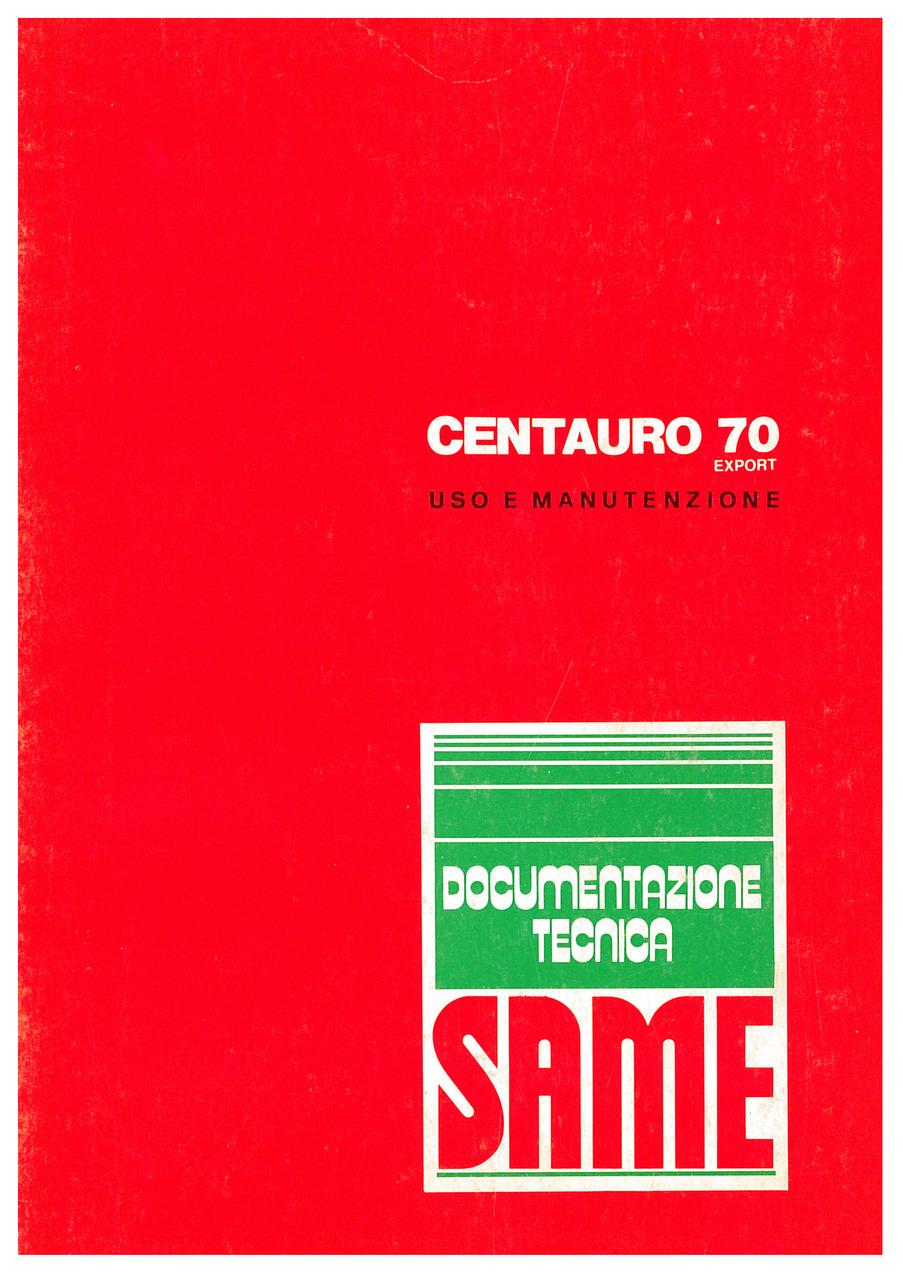 CENTAURO 70 EXPORT - Libretto uso e manutenzione