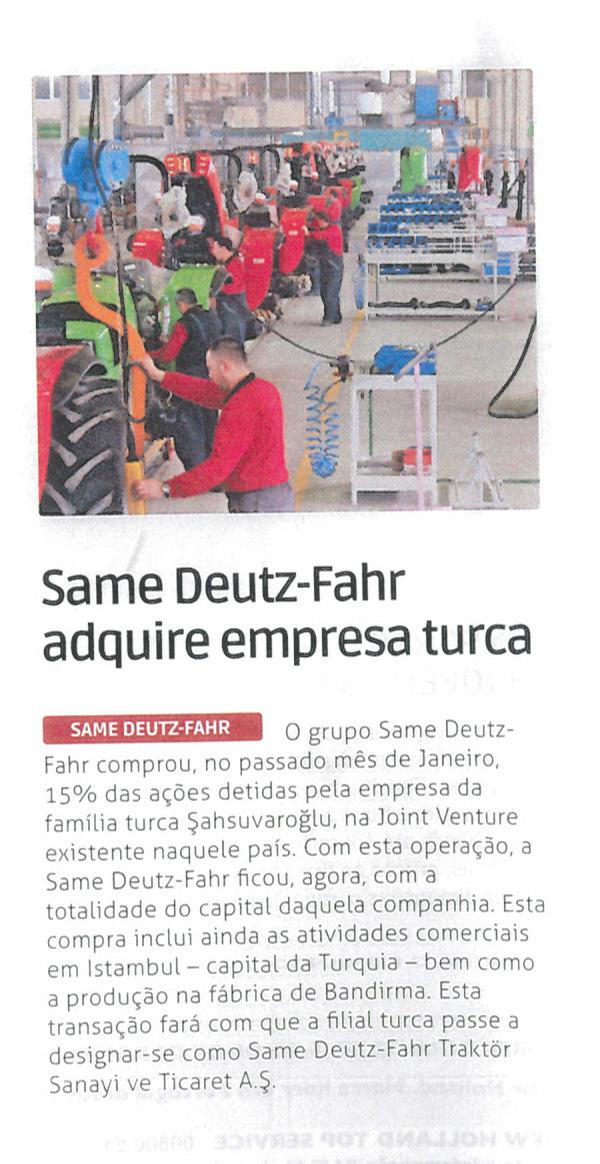 Same Deutz-Fahr adquire empresa turca