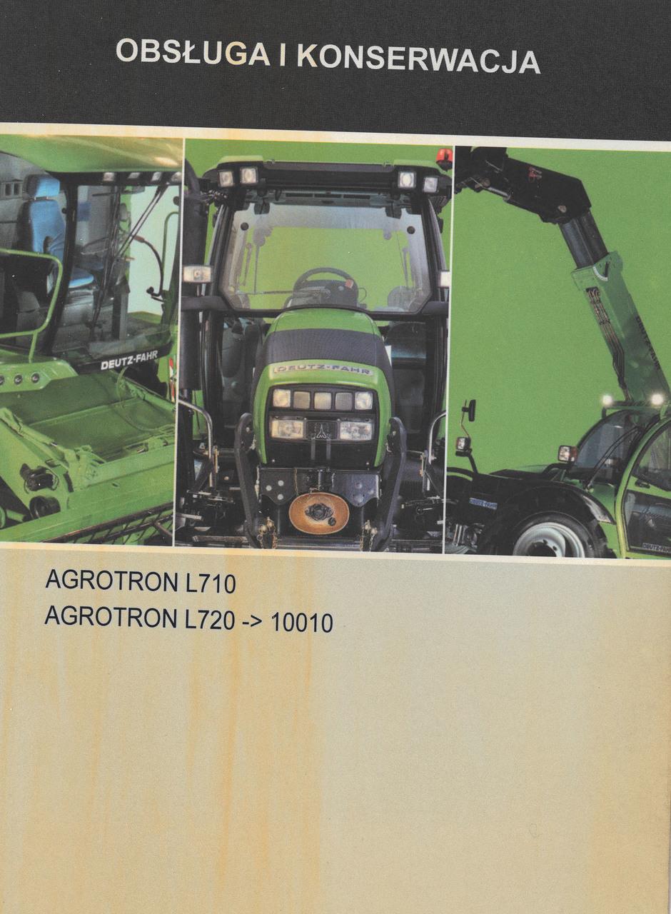 AGROTRON L710 - AGROTRON L720 ->10001 - Obsluga i konserwacja