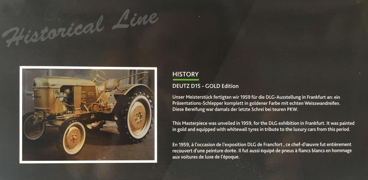 Trattore DEUTZ D 15 - Gold Edition