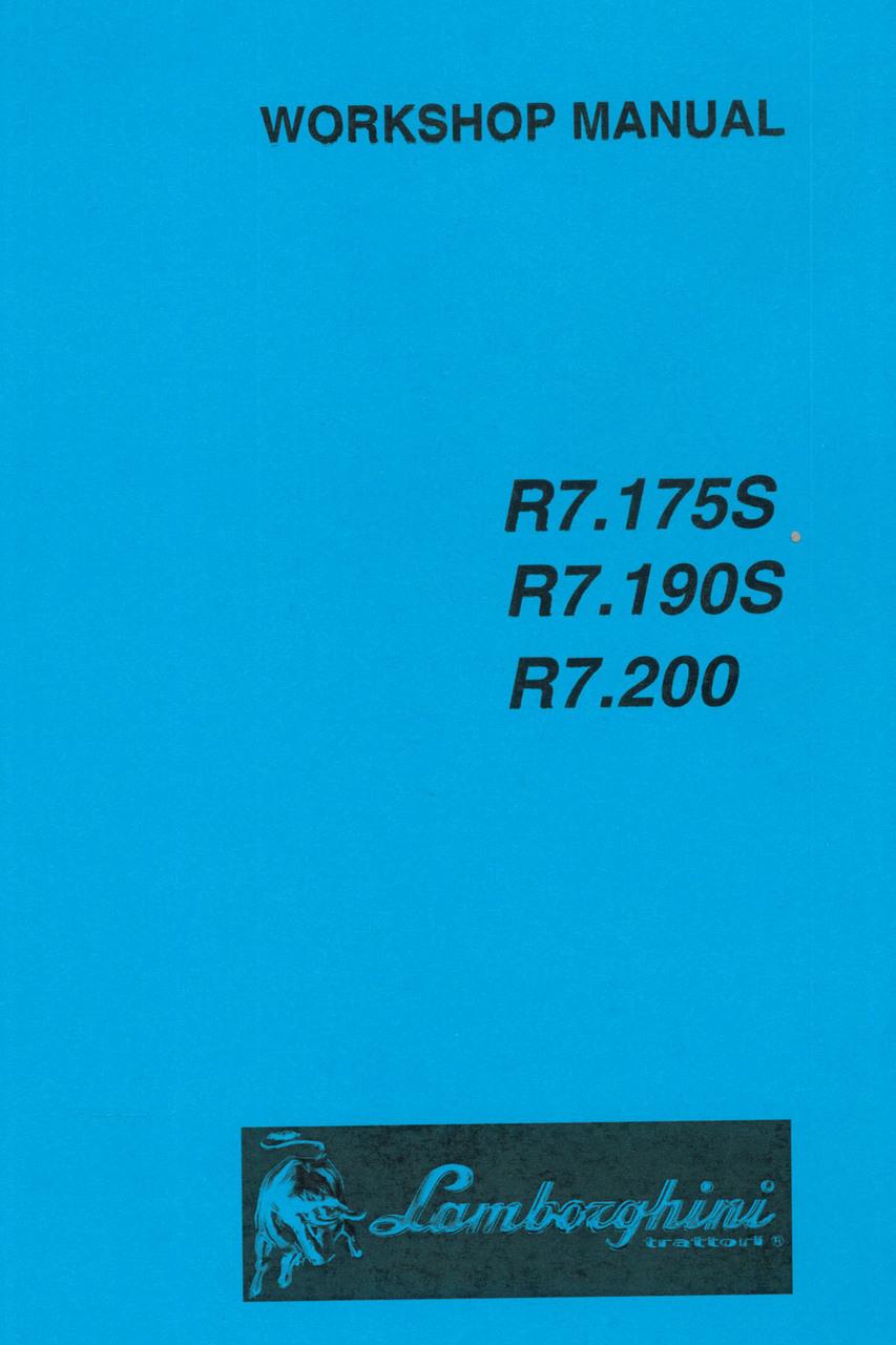 R7.175 S - R7.190 S - R7.200 - Workshop manual