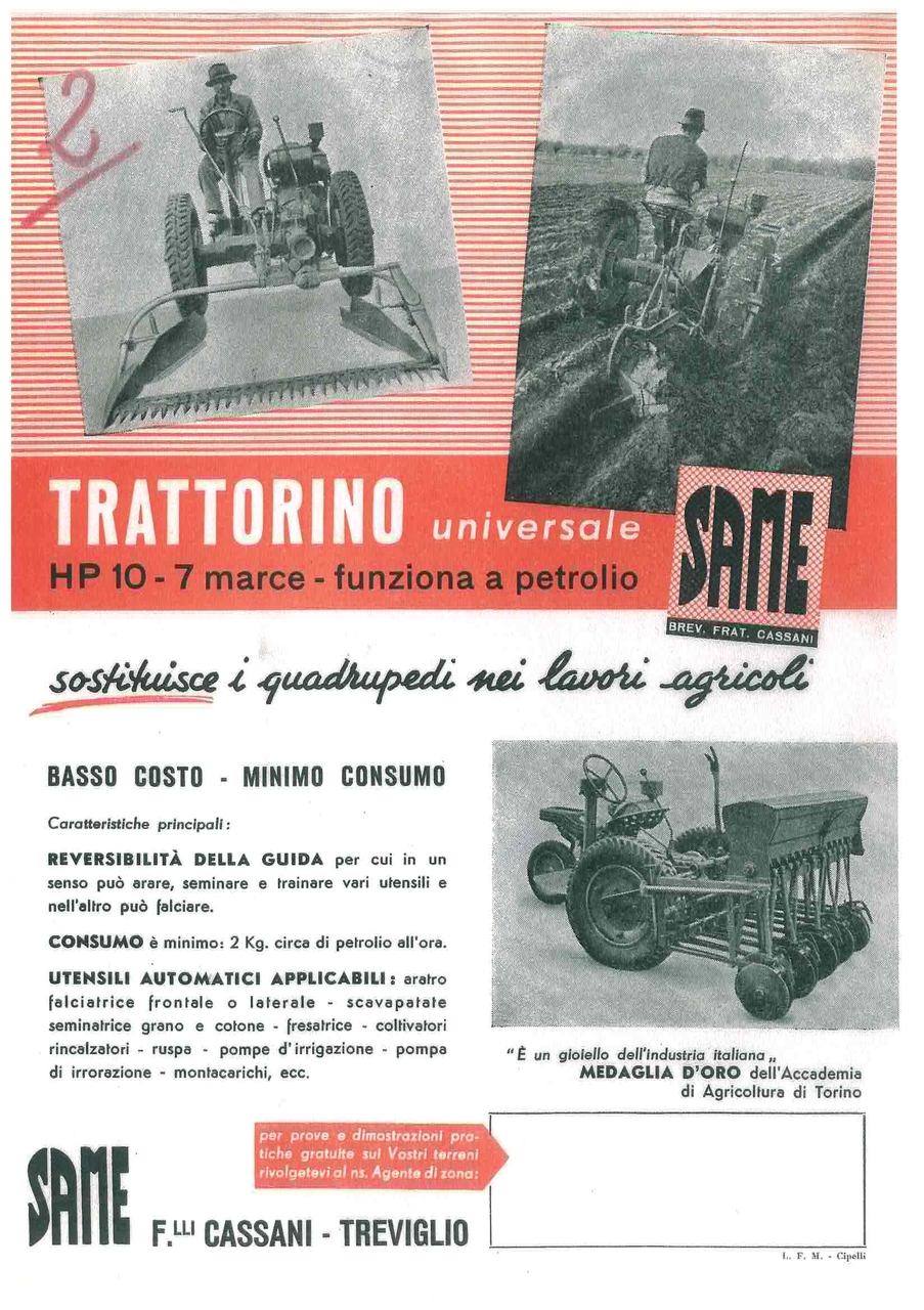TRATTORINO UNIVERSALE HP 10