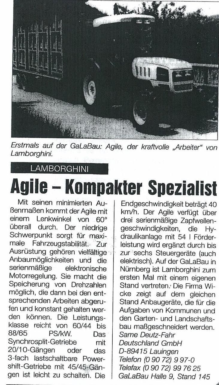 Agile- Kompakter Spezialist
