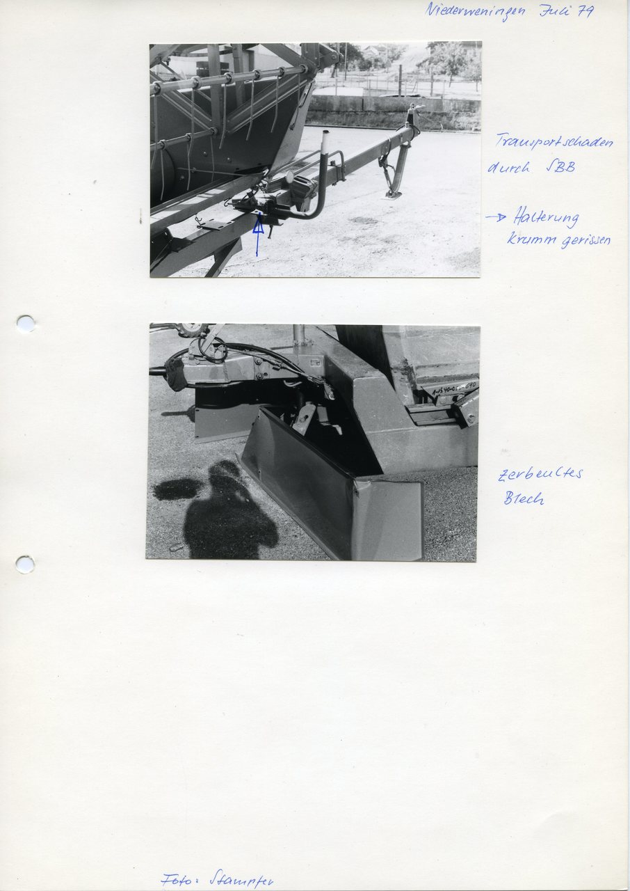 """[Fahr M 1302 HS], """"Niederweningen, Juli 79"""""""