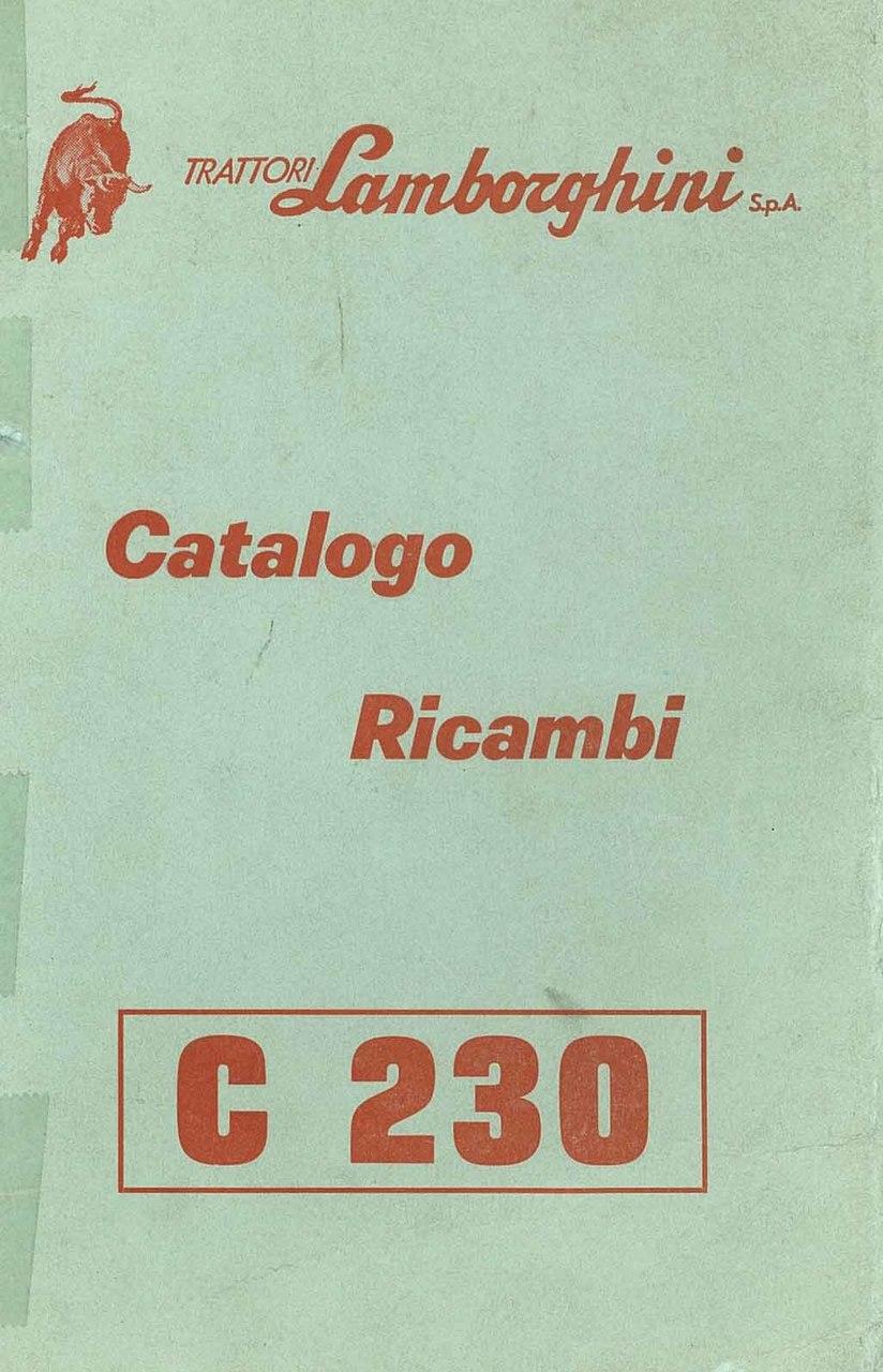 C 230 - Catalogo Parti di Ricambio