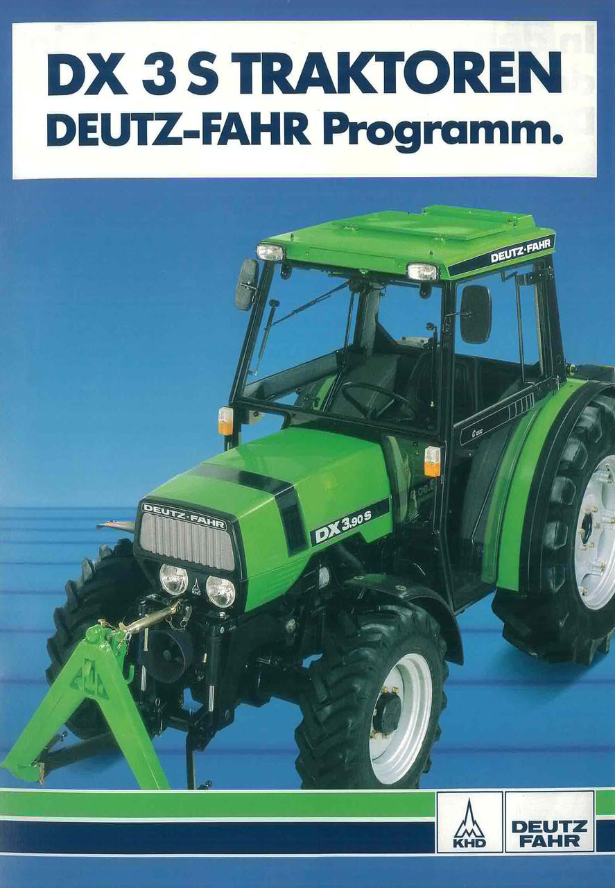 DX 3 S DX 3.50 - 3.90S Traktoren - Deutz- Fahr Programme