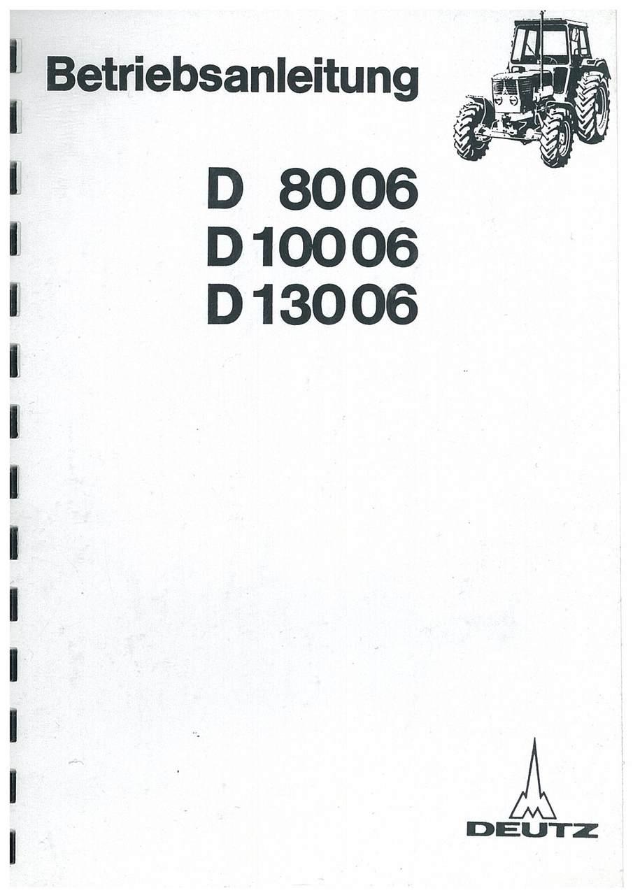 D 80 06-100 06-130 06 - Bedinungsanleiting