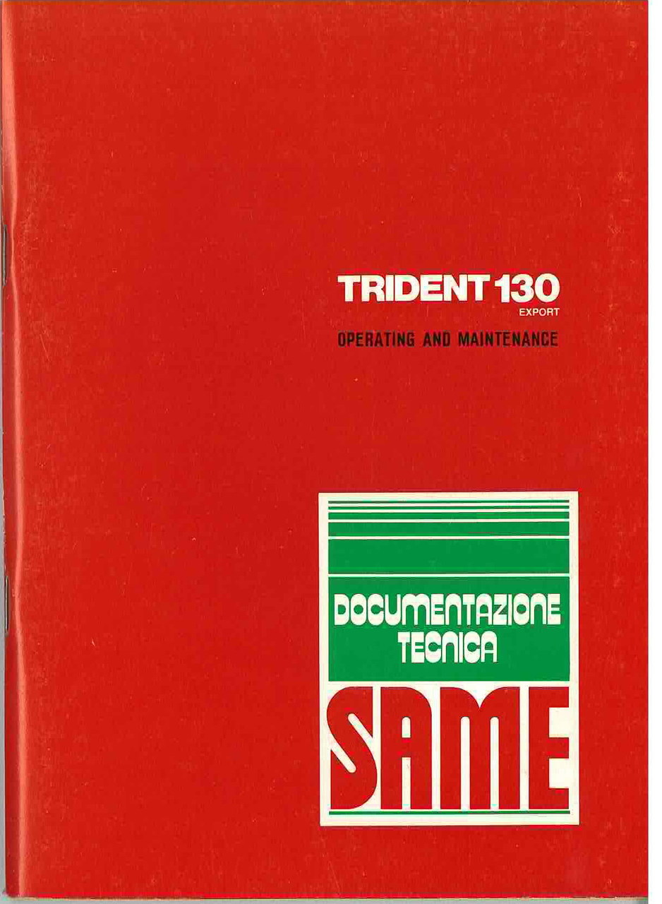 TRIDENT 130 EXPORT - Operating and maintenance