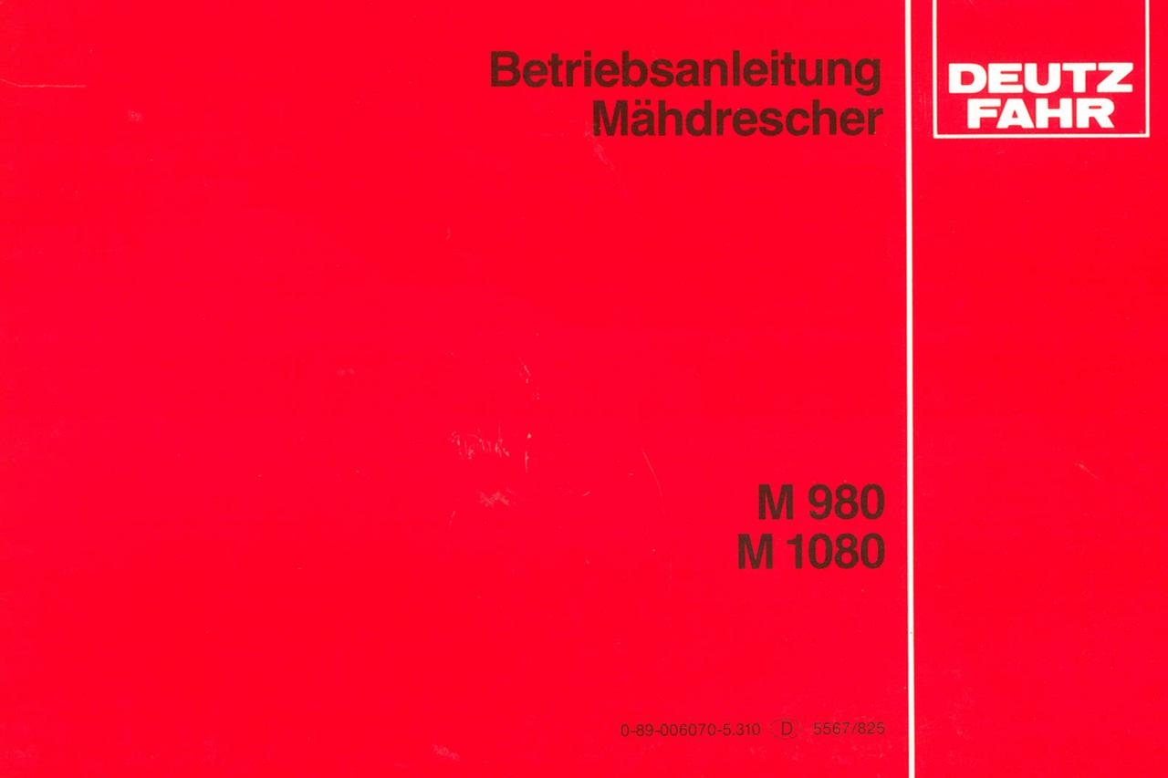M 980 - M 1080 - Betriebsanleitung