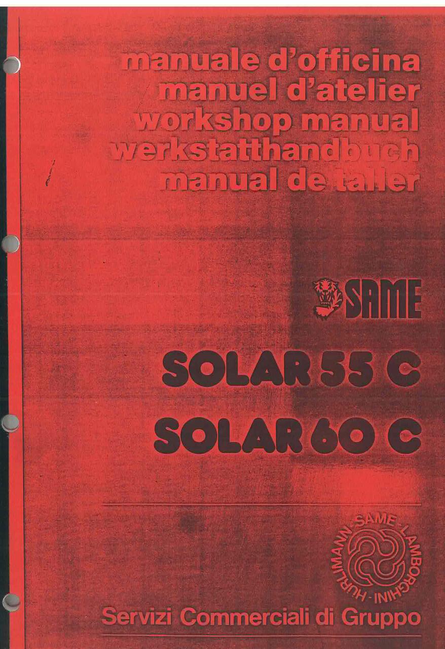 SOLAR 55 C - 60 C - Workshop manual