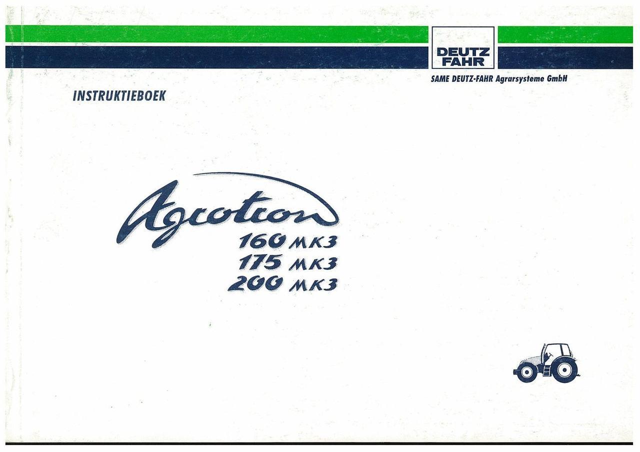 AGROTRON MK3 160-175-200 - Gebruik en Onderhoud