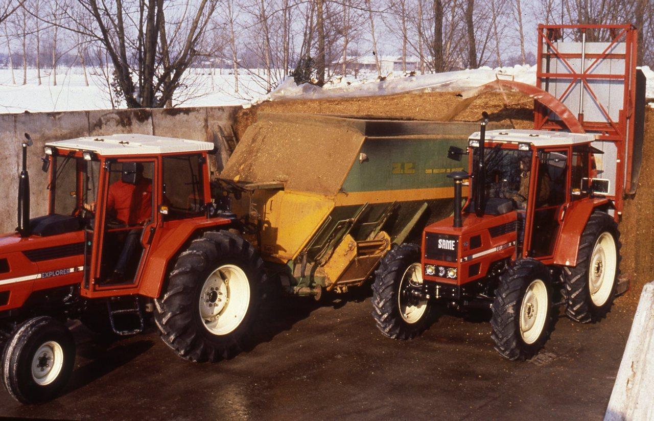 [SAME] trattori Explorer 70 e 90 al lavoro in azienda agricola