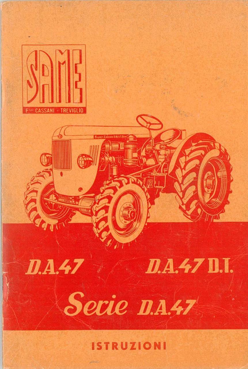 D.A. 47 - D.A. 47 D.T. - Serie 47 - Libretto uso & manutenzione