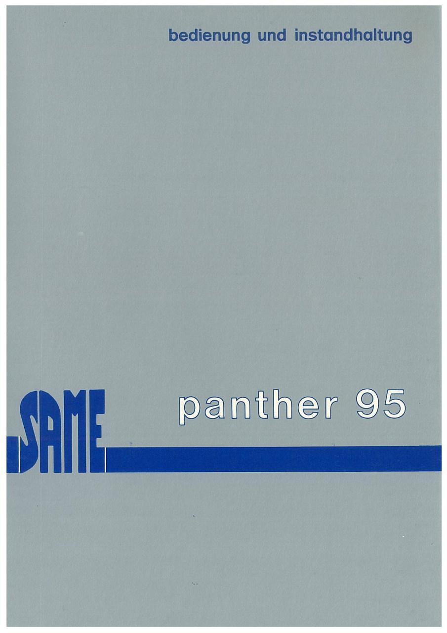 PANTHER 95 - Bedienung und wartung