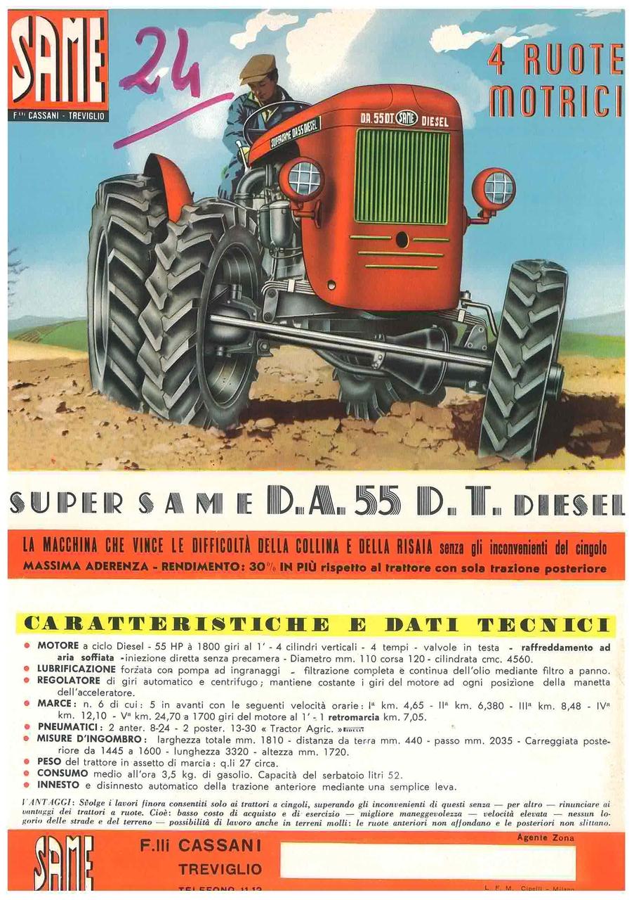 Super Same Da 55 DT Diesel