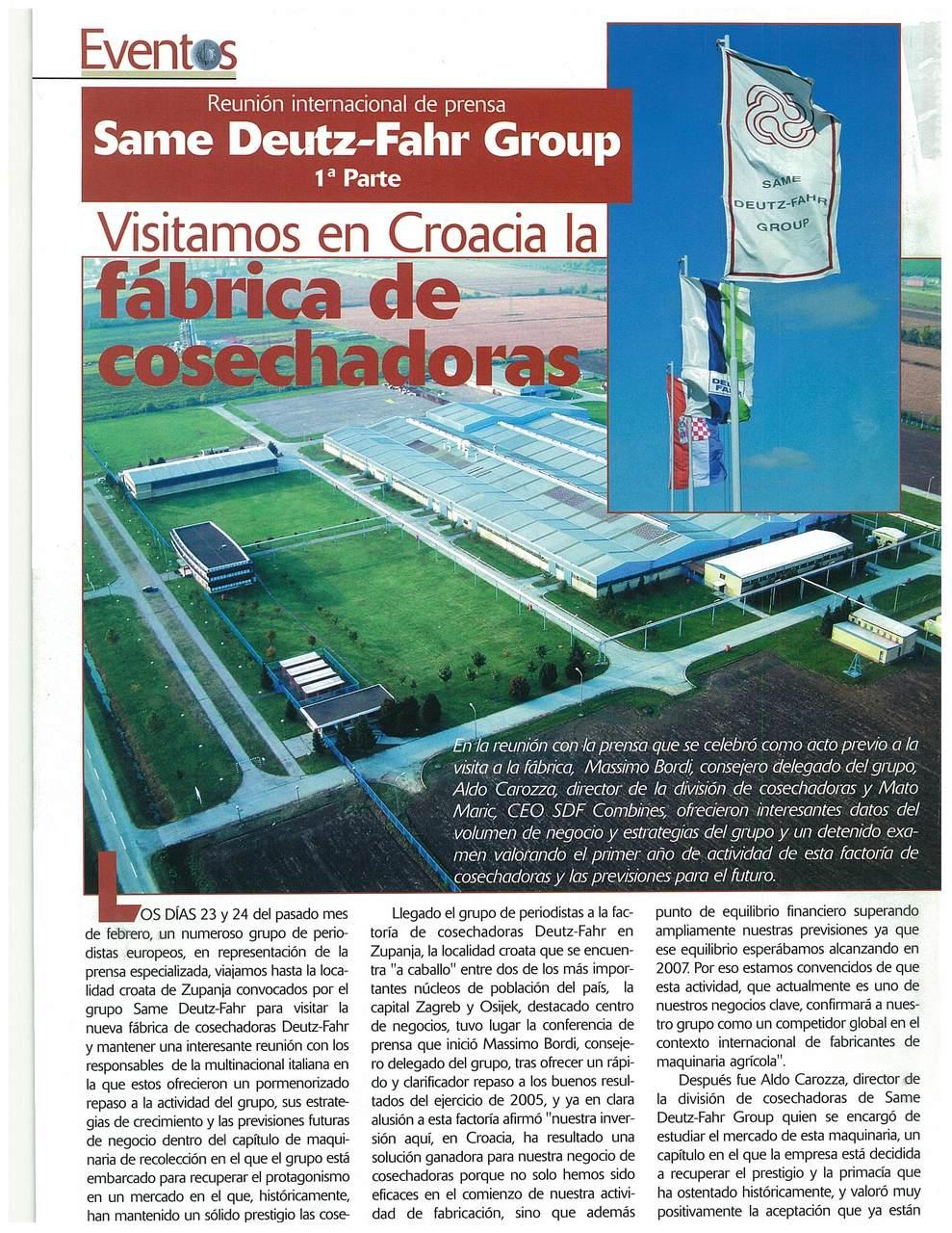 Visitamos en Croacia la fabrica de cosechadoras