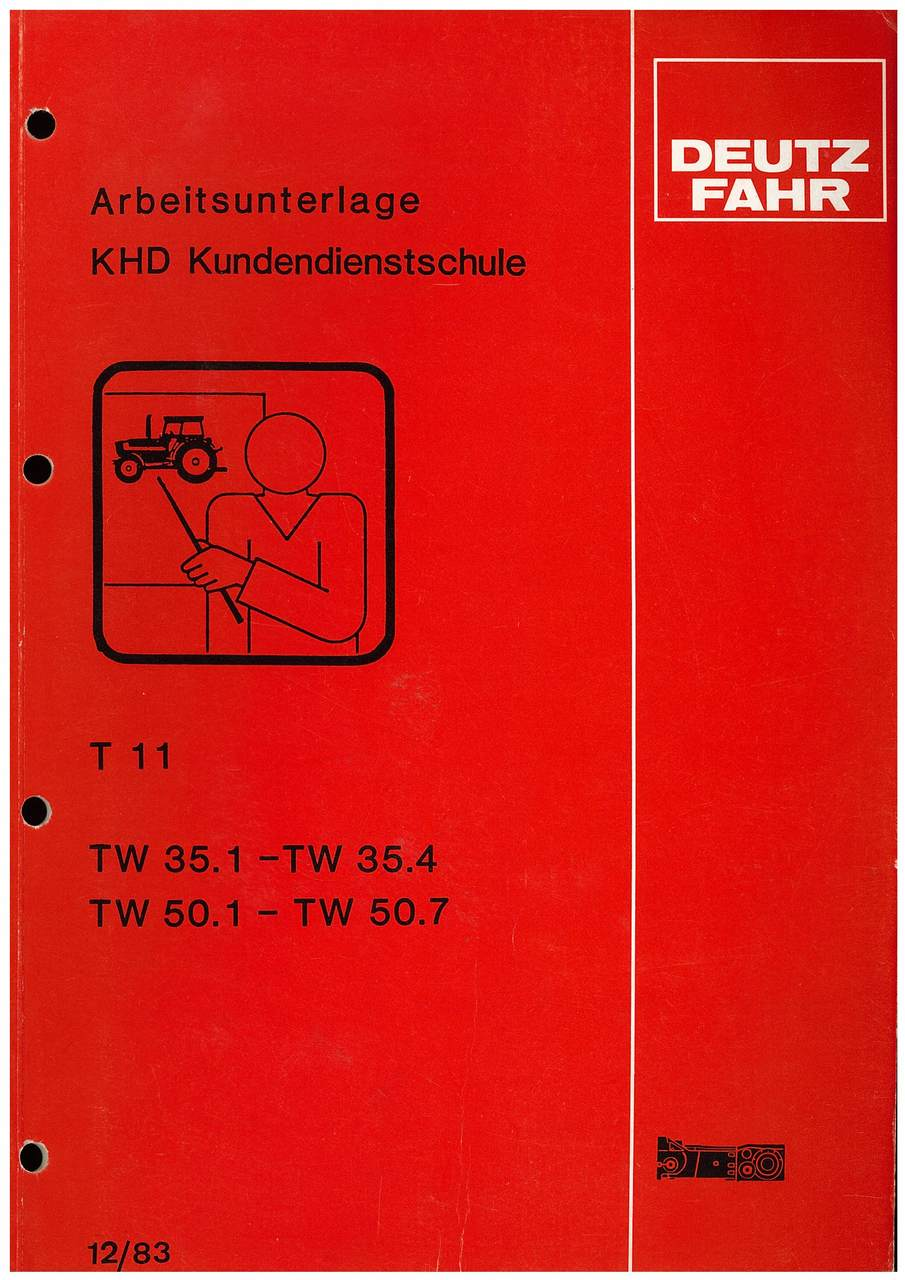 TW 35.1-35.4-50.1-50.7 Getriebe T 11 - Arbeitsunterlage KHD Kundendienstschule