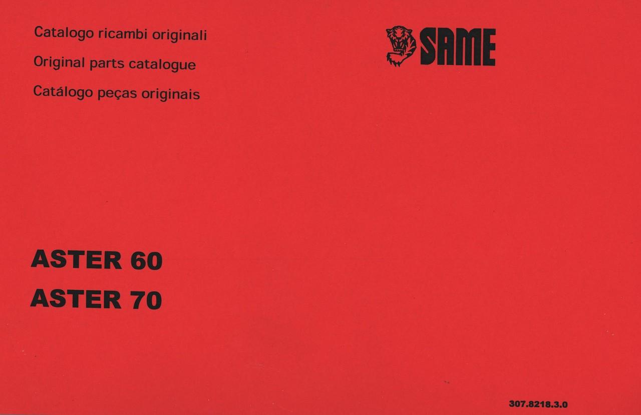 ASTER 60 - ASTER 70 - Catalogo ricambi originali / Original parts catalogue / Catalogo peças originais