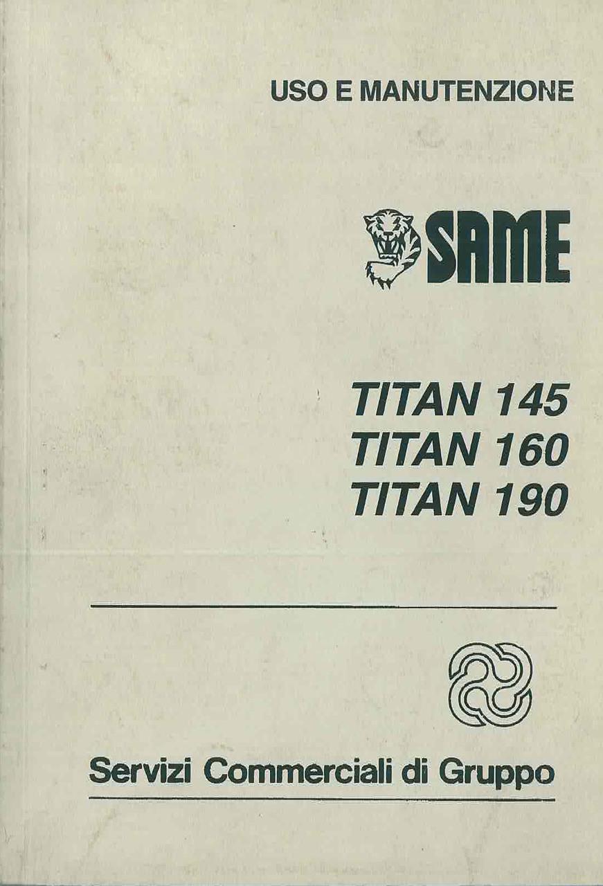 TITAN 145 -160 - 190 - Libretto Uso & Manutenzione