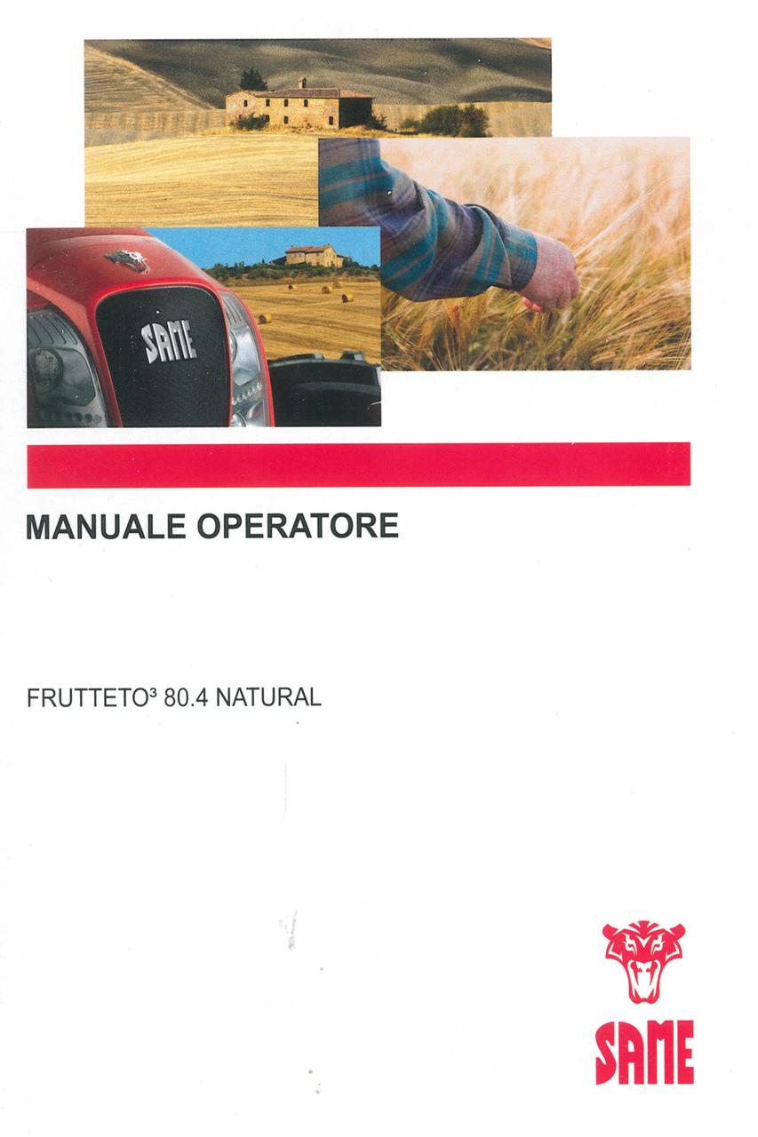 FRUTTETO³ 80.4 NATURAL - Manuale operatore