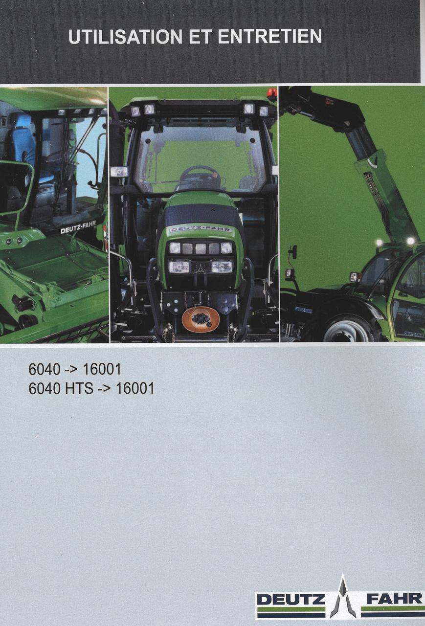 6040 ->16001 - 6040 HTS ->16001 - Utilisation et entretien