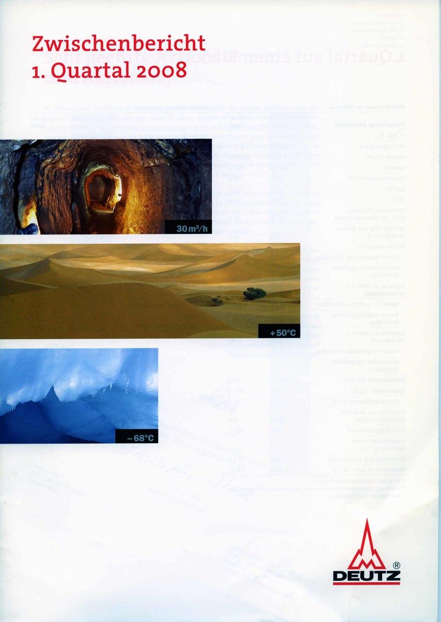 Zwischenbericht 1. 3. Quartal 2008