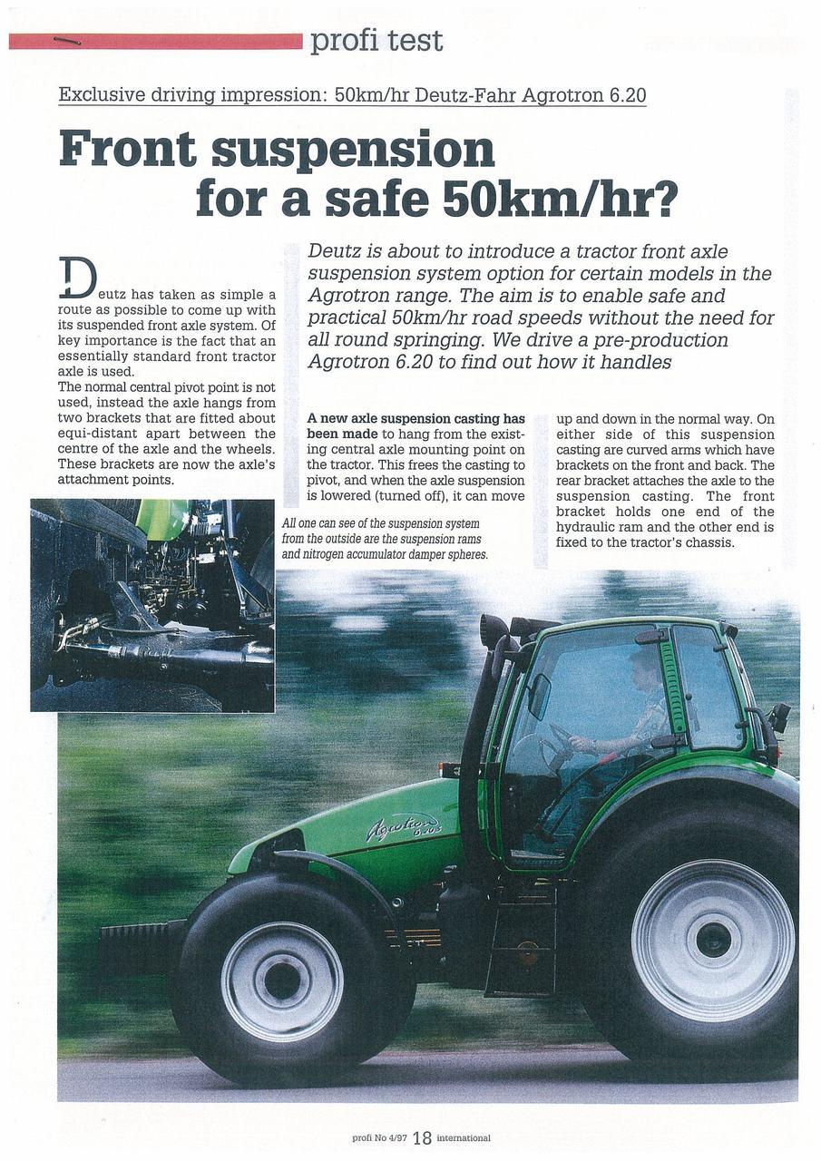 Front suspension for a safe 50 Km/hr?
