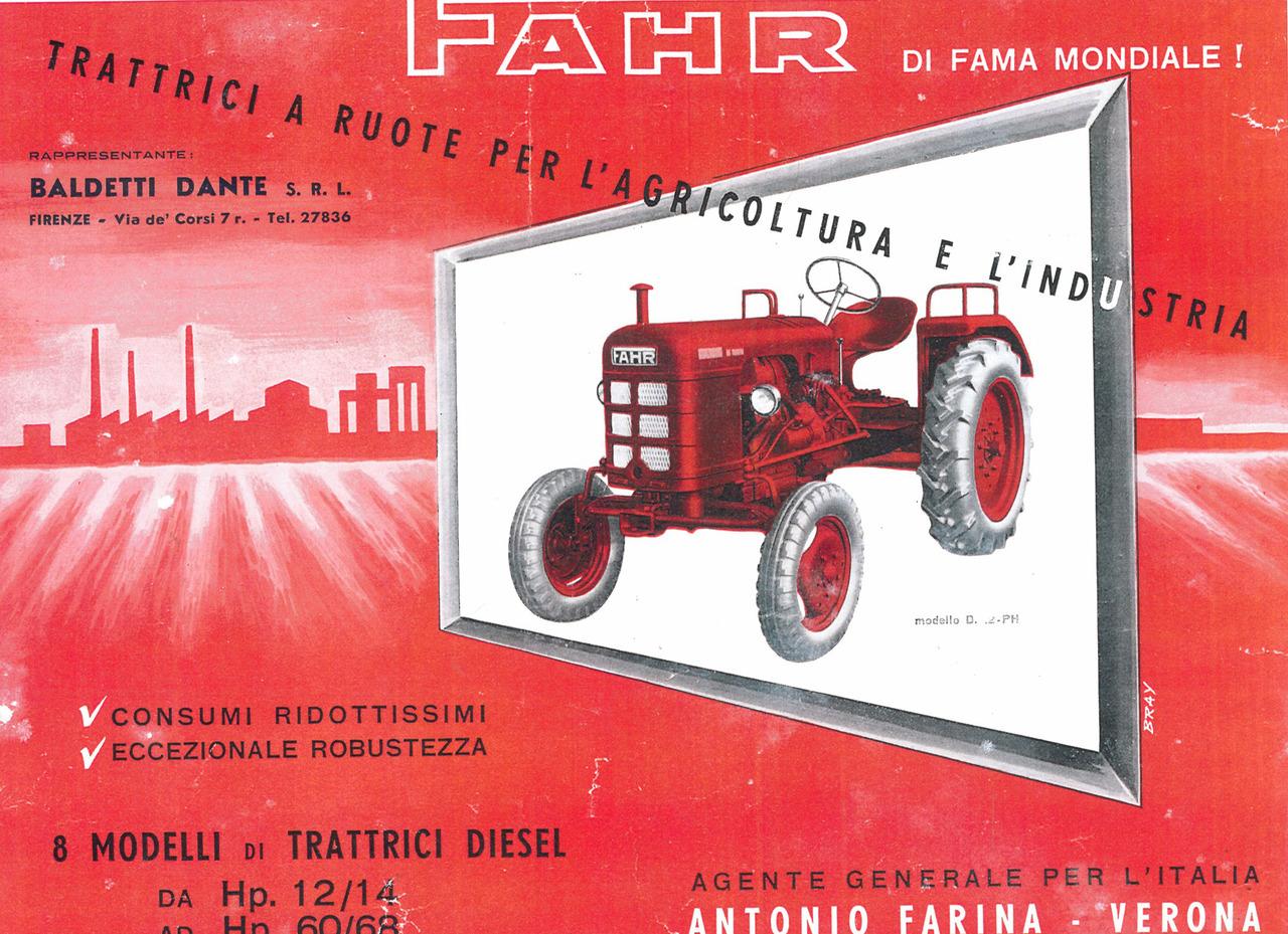 FAHR - Trattrici a ruote per l'agricoltura e l'industria - D 12/ D 17/ D 22-P/ D 22-PH/ D 22-N/D 30-L/D 45-L/D 60-L