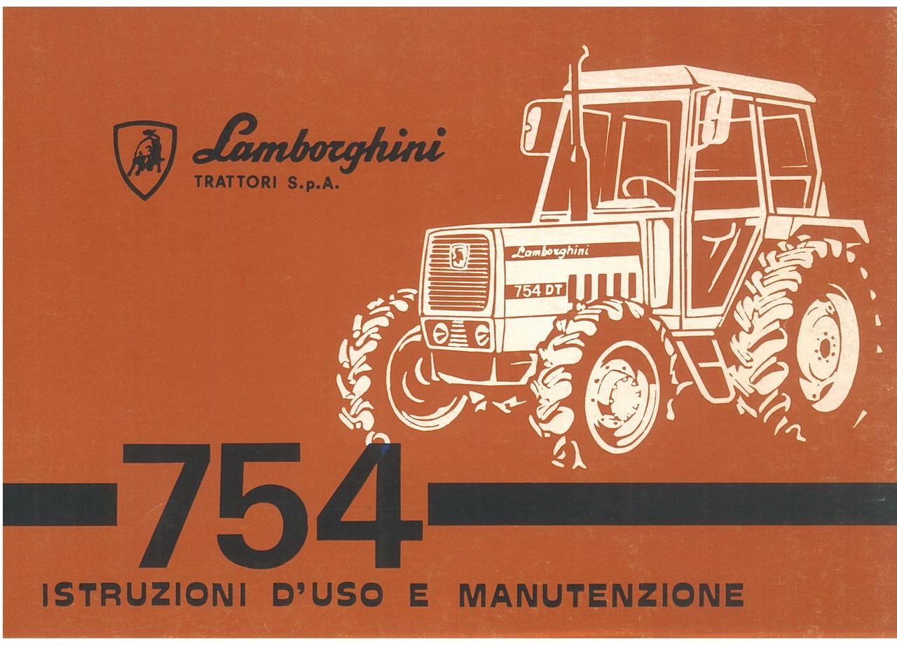 754 - Libretto uso & manutenzione